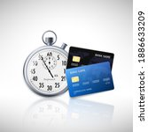 timer and credit card. fast... | Shutterstock .eps vector #1886633209