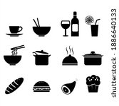 food and drinks icon set | Shutterstock .eps vector #1886640133