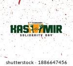 Kashmir Solidarity Day Typography logo design