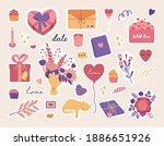 valentines day stickers set ...   Shutterstock .eps vector #1886651926