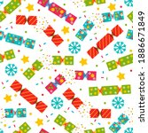 christmas cracker vector... | Shutterstock .eps vector #1886671849