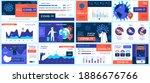coronavirus presentation slides ... | Shutterstock .eps vector #1886676766