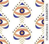 evil eyes seamless pattern in...   Shutterstock .eps vector #1886680936