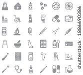 pharmacy icons. gray flat...   Shutterstock .eps vector #1886690386