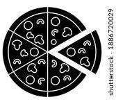 pizza icon. pizza illustration...