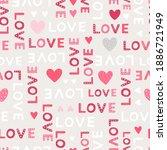 lovely hand drawn valentine's...   Shutterstock .eps vector #1886721949