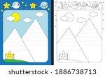 preschool worksheet for... | Shutterstock .eps vector #1886738713