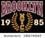 vintage college style...   Shutterstock .eps vector #1886740069