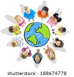 kids around the globe   Shutterstock . vector #188674778