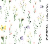 floral watercolor seamless... | Shutterstock . vector #1886770423