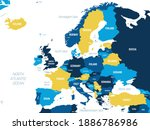 europe map   brown orange hue...   Shutterstock .eps vector #1886786986