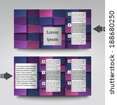 brochure template with abstract ... | Shutterstock .eps vector #188680250