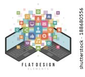 flat design vector illustration ... | Shutterstock .eps vector #188680556