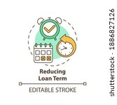 reducing loan term concept icon.... | Shutterstock .eps vector #1886827126