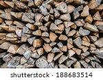 Firewood Background   Chopped...