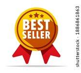 best seller badge vector... | Shutterstock .eps vector #1886861863