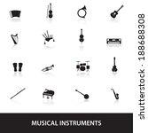 musical instruments eps10 | Shutterstock .eps vector #188688308