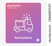 road assistance thin line icon. ...   Shutterstock .eps vector #1886889559