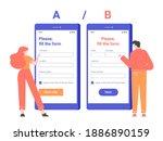 split ab testing the... | Shutterstock .eps vector #1886890159