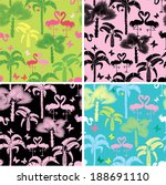 set of seamless patterns with... | Shutterstock . vector #188691110