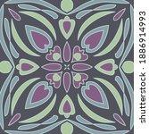 antique talavera tiles... | Shutterstock .eps vector #1886914993