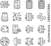 air purifier icon illustration... | Shutterstock .eps vector #1886922886
