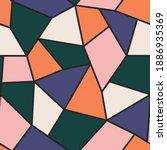 vector seamless color polygonal ... | Shutterstock .eps vector #1886935369