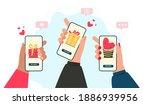 online valentines day shopping... | Shutterstock .eps vector #1886939956