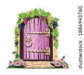 Fairytale Pink Door Of A...