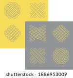 yellow and gray textile fibers... | Shutterstock .eps vector #1886953009