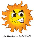 illustration of a sun with a... | Shutterstock .eps vector #188696060