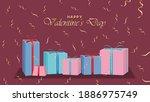 happy valentine day background... | Shutterstock .eps vector #1886975749
