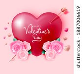 happy valentine's day...   Shutterstock .eps vector #1887006619