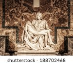 Small photo of ROME, ITALY - MARCH 24 2014: Pieta of Michelangelo in the Basilica of St. Peter on MARCH 24 2014 in Rome in Italy