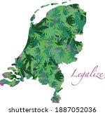 illustration of netherlands...   Shutterstock .eps vector #1887052036