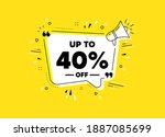 up to 40 percent off sale.... | Shutterstock .eps vector #1887085699