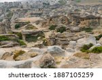 Scenic view of Sandstone Hoodoos at Writing on Stone Provincial Park, an ancient Indian preserve site at Southern Alberta Canada. The park is sacred to the Blackfoot and many other aboriginal tribes.