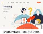 business topics  meeting  web... | Shutterstock .eps vector #1887113986