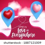 valentine's vector background...   Shutterstock .eps vector #1887121009