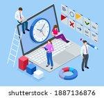 isometric time management ...   Shutterstock .eps vector #1887136876