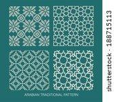 traditional arabian pattern.   Shutterstock .eps vector #188715113