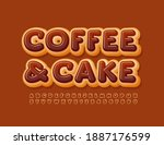 vector tasty sign coffee and...   Shutterstock .eps vector #1887176599