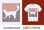 inverted silhouette of coyote...   Shutterstock .eps vector #1887178936