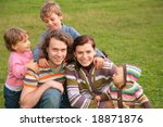 family of five outdoor | Shutterstock . vector #18871876