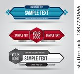 lower third blue   red and grey ... | Shutterstock .eps vector #1887220666