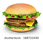 fresh burger isolated on a... | Shutterstock . vector #188722430