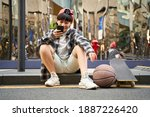 teenage asian kid with... | Shutterstock . vector #1887226420