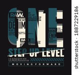 one step up level  modern and... | Shutterstock .eps vector #1887229186