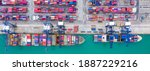 Aerial View Container Ship At...