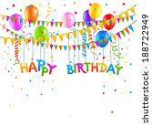 happy birthday background with... | Shutterstock .eps vector #188722949